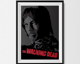 The Walking Dead, Daryl Dixon, Comic Book, Portrait, Graphic Print
