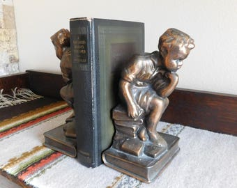 Vintage Bookend The Thinker