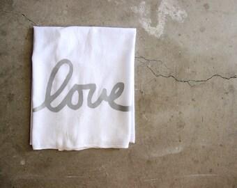 Love Dish Towel / Flour Sack Dish Towel