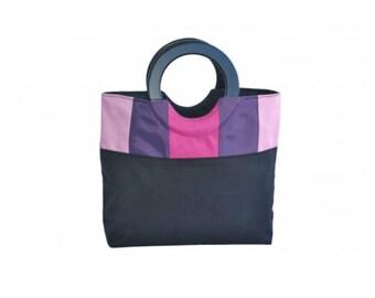 Candy pink foldable handbag
