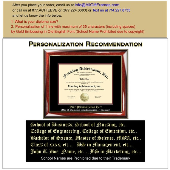 Solo Diploma marco colegial Universidad Diploma enmarcado