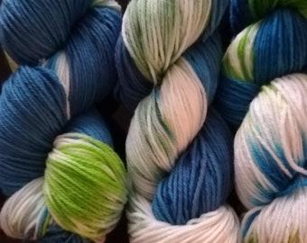 Hand dyed yarn, DK super-wash merino/nylon wool - The North  Cape