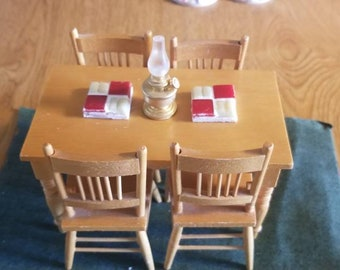 Antique Miniature Dining Table