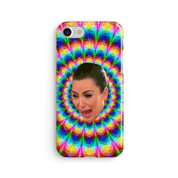 Kim crying trippy  iPhone X case - iPhone 8 case - Samsung Galaxy S8 case - iPhone 7 case - Tough case 1P039