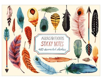 Arrows & Feathers Sticky Notes