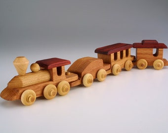 Mini Train Handmade Wooden Toy gift wood toys