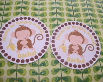 Monkey gift  tags set of 12