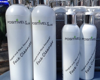 Cream Cleanser with organic Lavender by Positively Aloe. Gentle Cleaner to remove make up and great conditioning qualit