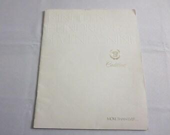 1979 Cadillac Sales Brochure Catalog Seville Coupe de Ville Eldorado Fleetwood +