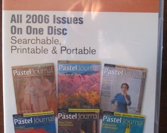The Pastel Journal Magazine 2006 Back Issues DVD disc 6 issues Annual disc new sealed