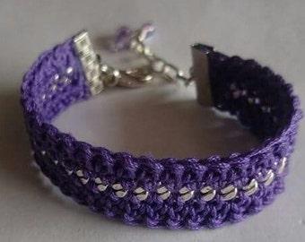 violet friendship bracelet