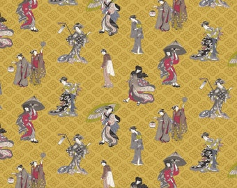 Fabric, linen, geisha, Japan, Linen, fabric