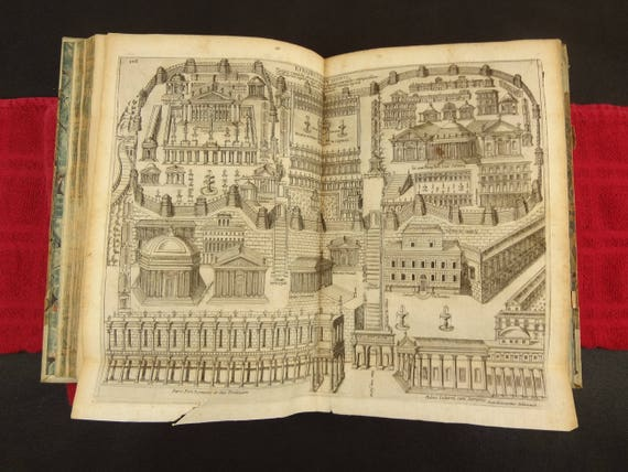 1639 Roma, Vetus Ac Recens (Old and New) - Alessandro Donati. Fold-outs, etchings illustrating.  Topographical and architectural.