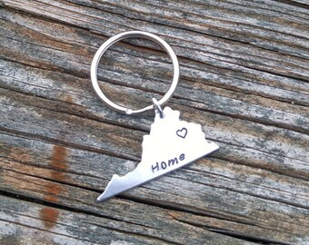 Personalized Virginia Keychain | VA Keychain | Personalized Keychain | Custom Keychain | State Keychain | Custom State Keychain