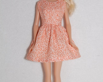 "Barbie doll dress Orange A4B060  11.5"" fashion doll clothes"