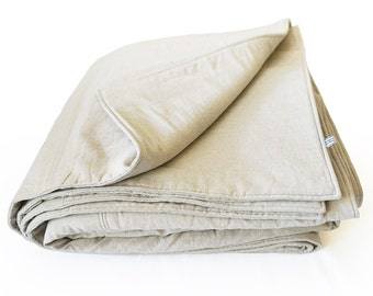 Natural linen blanket or bedspread King Queen Double Twin or Single size More colors available