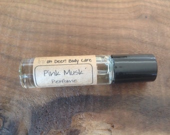 Pink Musk Roll on Perfume Oil- 10 mL (0.33 oz) Fragrance or Essential Oils Sweet