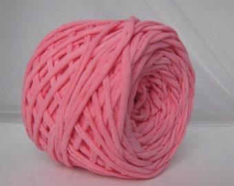 T-Shirt Yarn, Tshirt Yarn, T Shirt Yarn,  Hand Dyed- Light Pink- 60 Yards