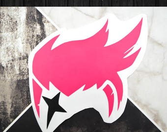 Overwatch -Zarya Vinyl Decal Sticker | One or Two Color Option