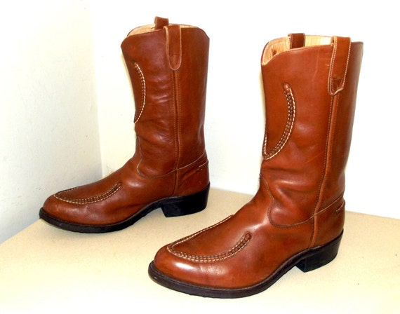 boots Leather 11 D Double H Brown 5 Western size Cowboy 4X5qAFx