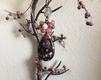 Plum Blossom Jasper Necklace