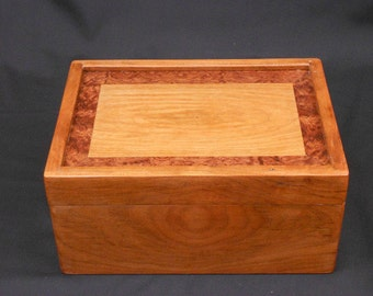 Luxury Jewelry Box with marquetry top