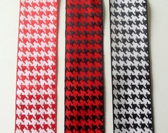 """Offray 1-1/2"""" Hounds Tooth Ribbon"""