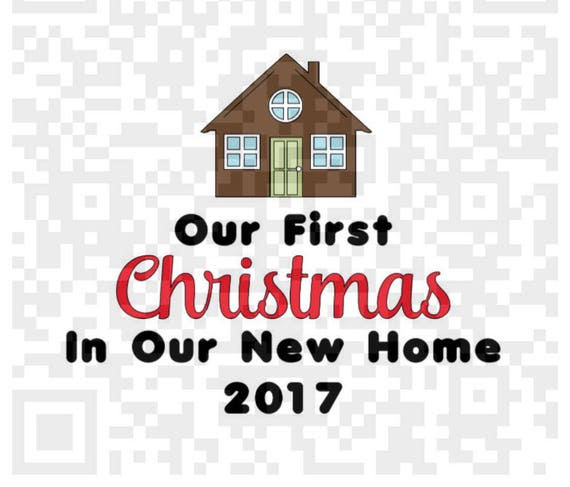 First Christmas in our new home PNG, 1st Christmas PNG, New Home Digital Cutting File, Png, Cricut Png, Print File, New Home Png Cut file