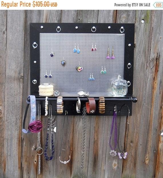 Spring Sales Event Wall Jewelry Organizer Wood Black Design