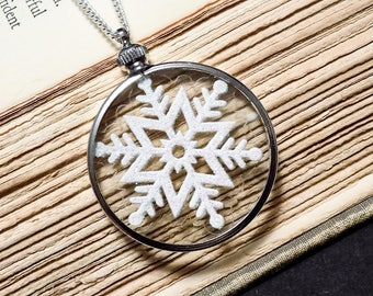 Snowflake Under Glass Necklace