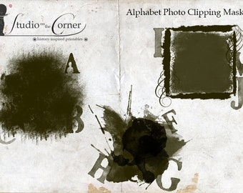 Photo Clipping Masks, Digital Clipping Masks, Alphabet Clipping Mask, Photography, Digital Photography, Instant Download