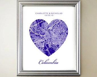 Columbia Heart Map