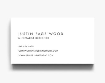 Business Card Design, Business Card Template, Calling Cards, Modern Business Cards, Minimalist Printable Card Download