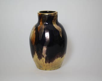 Ceramic vase Black/gold