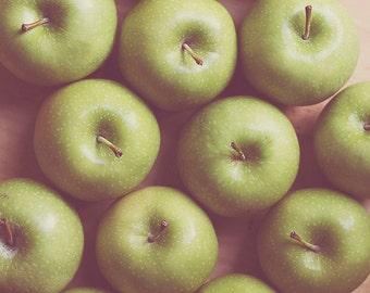 Kitchen Art: Granny Smith Fine Art Food Photography Wall Art Print Fruit Still life Green Art Kitchen wall art fruit Still life photography
