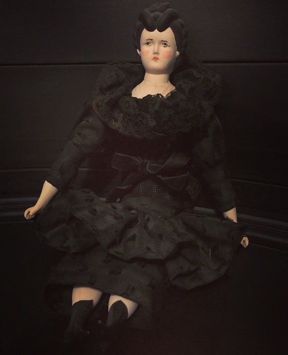 Antique Victorian Mourning Doll