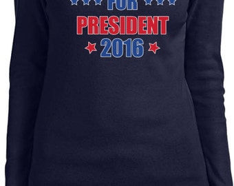 Donald Trump Shirt Donald Trump 2016 Ladies Long Sleeve TRUMP16-5001