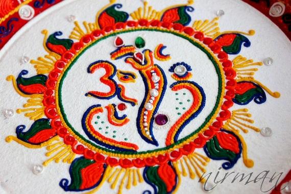 Ganesh pooja thali decorative henna mehndi design like this item junglespirit Choice Image