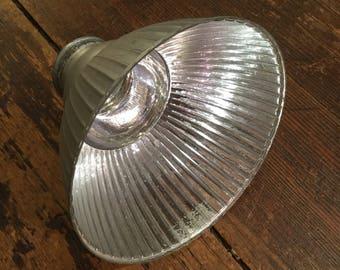 Mercury Glass Shade, Rare Jeweler's Lamp Shade, French, Ca: 1900.