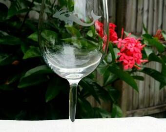 Beach Wine Party. Mermaid Wine Glasses Set of 6 White Wine Glasses.