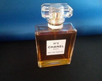 Vintage Chanel No 5 Eau De Parfum Perfume 50ml Boxed 1980's