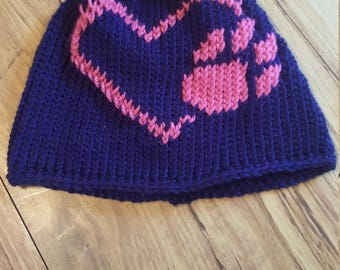 Paw Love Knit Hat