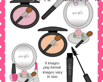 Girls Makeup 2 - Digital Clipart Graphic Images for Scrapbooking and Paper Crafts