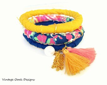Tassel Bangles,Statement Bangles, Stacking Bangles, Indian Bracelets, Bangle Bracelets,Fabric Bangles, Indian Bangles, Boho Bangles,Tassels