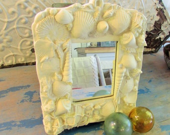 pottery beach mirror, 1990's