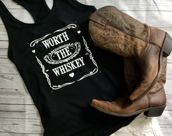 Country Tank Top. Worth The Whiskey. Country Tank. Country Concert Shirt. Country Song. Country Lyric Shirt. Country Tee. Cole Swindell. Cou