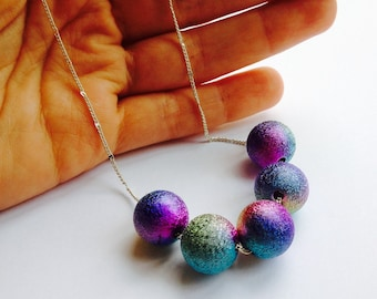 Galaxy necklace, space necklace, milkyway necklace, planet necklace, space jewelry, cosmic necklace, nebula necklace, outer space necklace,