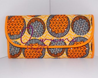 Orange Circles Wallet