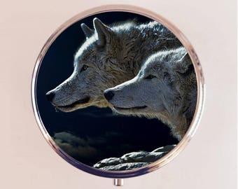 Wolf Pill Box Case Pillbox Holder Trinket Stash Box Wolves Animal Photography Spirit Animal