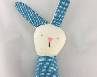 bunny rattle, handmade baby rattle, rabbit rattle, stuffed rattle, soft baby toy, stuffed bunny, baby bunny, stuffed rabbit, baby gift